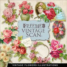 Scrapbooking TammyTags -- TT - Designer - Far Far Hill,  TT - Item - Element, TT - Theme - Vintage, TT - Thing - Flower