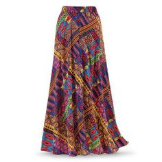 Vibrant Tribal Maxi Skirt