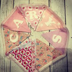 Girl's Cath Kidston inspired personalised bunting Personalised Bunting, Personalized Gifts, Make And Sell, How To Make, Cath Kidston, Girly Things, Shabby Chic, Gift Wrapping, Inspired