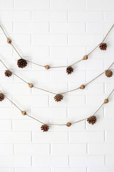 Bead and cone garland