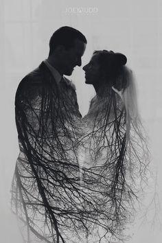 Stonefields Wedding by Ottawa Wedding Photographer Joey Rudd Photography  Double Exposure Multiple Exposure Nature Creative