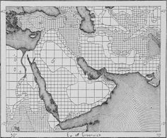 Population density map of the Middle East (1876).