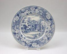 Souvenir Plate / Pomona College ♥ See more at www.PeriodElegance.etsy.com  #vintagechina #pomonacollege #bluetransferware