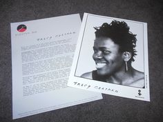 TRACY CHAPMAN Crossroads Press Kit With 8x10 Promo Photo