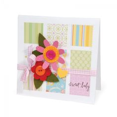 Sweet Baby Patchwork Card