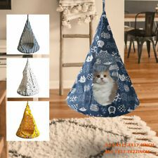 Cat Bed Tent Hammock Hanging Bed Breathable Cat Cave Bed Cat House Linen Sponge Design For Cats Puppy Pet Bed For Small Cat. Grab the budget pet products from our online pet store for your dog, cat, puppies and kitten. Cat Tent, Cat Hammock, Hammock Tent, Portable Hammock, Blue Cats, Yellow Cat, Cheap Cat Beds, Hanging Tent, Pet Car Seat