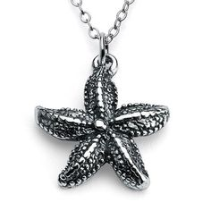925 Sterling Silver Starfish Charm Pendant Necklace 16 Inches >>> Check this awesome product by going to the link at the image.