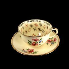 Antique Alfred Meakin Cup of Knowledge Teacup Tea Leaf Reading Fortune Telling