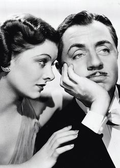 Myrna Loy & William Powell as Nora & Nick Charles in the Thin Man series