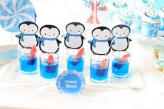 Cute Penguin and Polar Bear Birthday BRRR-thday party! Cute ideas, perfect for a winter party!