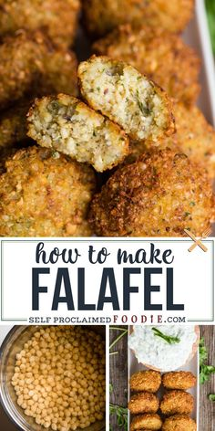 Falafel is one of my favorite Middle Eastern street food recipes. Chickpeas are combined with other savory ingredients and deep fried to perfection! #falafel #howtomake #recipe #chickpeas #garbanzobeans #dried #fried Greek Recipes, Indian Food Recipes, Vegetarian Recipes, Cooking Recipes, Healthy Recipes, Ethnic Recipes, Delicious Recipes, My Favorite Food, Favorite Recipes