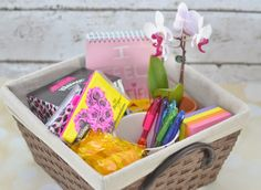 Delicieux New Job Survival Kit Gift Basket