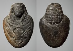 Heart amulet with a a scarab and a human head. x cm Inventory number: Hjerteamulet med en skarabæ og et menneskeligt hoved. Ancient Aliens, Ancient Rome, Ancient History, Egypt News, Ancient Discoveries, Human Head, Mystery Of History, Egyptian Art, Ancient Artifacts