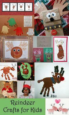 Kids Christmas Crafts: Handprint & Footprint Reindeer
