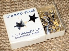 Vintage Silver Stars - Gummed Stars by J.L. Hammett - School Supplies
