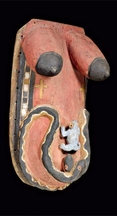 Africa   Body mask from the Yoruba people of Nigeria   Wood and paint