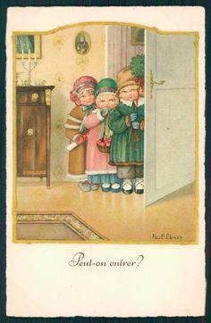 Artist Signed Pauli Ebner Children Dondorf serie 2461 postcard TC2219   eBay