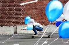 Longboard Ballon Ride