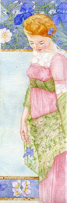 Flowers Illustration, Watercolor Illustration, Watercolor Portraits, Watercolour Painting, Watercolours, Canvas Painting Landscape, Fashion Painting, Pattern Art, Female Art