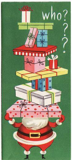 The Cedar Chest - antique postcards, vintage photographs, forgotten ephemera: Christmas Cards 1950's