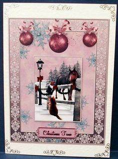 Christmas Scene card on Craftsuprint designed by Sallyanne O'Connell - made by Cheryl French - Printed onto glossy photo paper. Attached base image to card stock using ds tape. Built up image with 1mm foam pads. Added peel offs. - Now available for download!