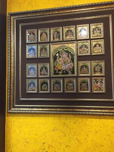 New Bathroom Art Ideas Paintings Pictures Ideas Mysore Painting, Tanjore Painting, Indian Inspired Decor, Indian Home Decor, Pooja Room Design, Puja Room, Temple Design, Malu, Bathroom Art