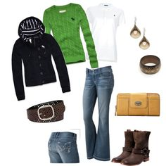 Football Game outfit. Fall fashion