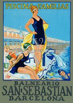 Vintage BCN travel poster