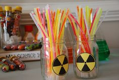 mad science party radioactive rods