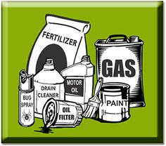 leftover chemicals? Dispose of properly at a Household Hazardous Waste facility