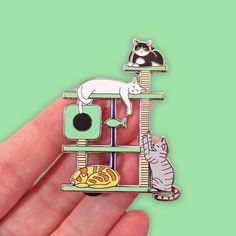 Repost @clortycatcrafts NEW Kitty Paradise Cat Tree pins are here! Featuring silver plating hard enamel & a bunch of kitties snoozing & playing on a cat tree! Theyre a HUGE 55mm tall & perfect for cat lovers! IN THE SHOP NOW! We got these a little later than planned & will be shutting the shop this weekend for Christmas so act now if you want to grab one! (Please note that we cannot guarantee any orders outside of the UK will arrive in time for Christmas at this point so bear this in mind…