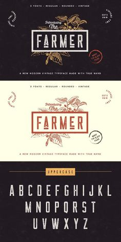 The Farmer Font Condensed Typeface font typography fonts font ideas font inspiration font typography font graphic beautiful fonts affiliate Vintage Typography, Typography Letters, Typography Logo, Typography Design, Vintage Fonts Free, Fashion Typography, Vintage Type, Font Design, Graphic Design Fonts