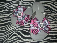 Oakland Raiders flip flops