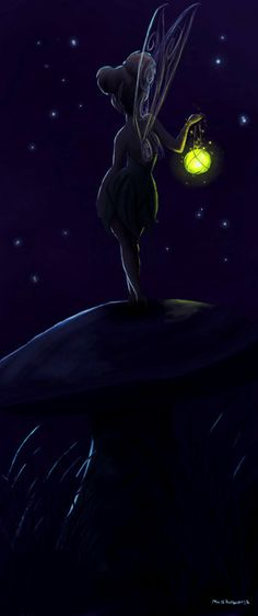 TinkerBell talking to the moon...