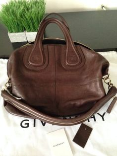 100-Authentic-Brand-New-Givenchy-Nightingale-Medium-Lambskin-Bag-Brown-GHW