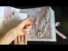 Скрапбукинг альбом для девочки с коробочкой, нежный шебби - YouTube
