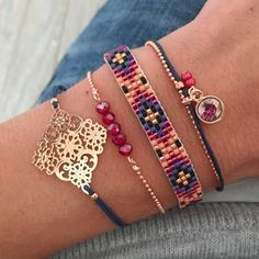 Mint15 armbanden set - bordeaux rood, navy, paars en rosé goud - available via www.capricci.nl | #armbandenset #armbanden #set #beads #bracelets #armparty #armcandy #rosegoud #rose #mint15 #capricci #capricci.nl