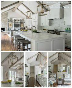 White Kitchen Vaulted Ceiling white contemporary kitchen with vaulted ceilings | nature inspired
