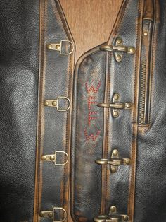 Genuine Leather with abrasion Leather Suspenders, Leather Vest, Brown Leather, Motorcycle Vest, Biker Vest, High Quality Furniture, Leather Working, Bobsleigh, 30 Years