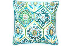 Palermo 20x20 Outdoor Pillow, Turquoise on OneKingsLane.com