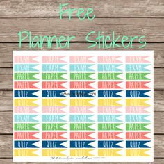 Free College Page Flag Planner Stickers - Felly Bee