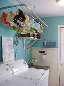 Drying rack!!!!! Great alternative to my rigged clothes line for drying diapers.
