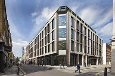 Built by Darling Associates in London, United Kingdom with date Images by Peter Landers Photography. Architects Darling Associates have completed Ampersand, a sq. prime office and residential building in the. Building Renovation, Building Exterior, Building Facade, Architecture Wallpaper, Facade Architecture, Amazing Architecture, Facade Design, Exterior Design, Mix Use Building
