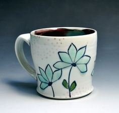 White mug - Andrea Denniston Pottery