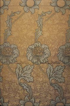 'Kennet' textile design by William Morris, produced by Morris & Co in 1883 _