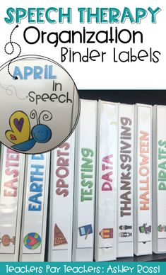 How I organize my speech therapy materials