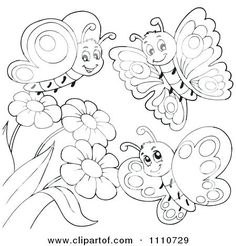 27 Best Butterflies And Flowers Coloring Pages Images In 2019