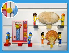 Use your LEGO bricks and minifigures to display trading cards, baseball cards and sea shells with BRICK RACK.