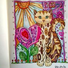 Mais um gatinho terminado! #gatosolivrodecolorir #boracolorirtop #colorindolivrostop  #livrosdecolorir #creativecats