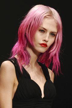 Charlotte Free,pink hair